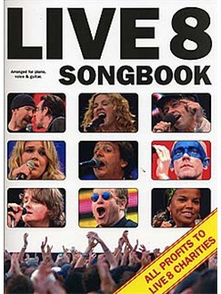 The Live 8 Songbook Livre | Piano, Chant et Guitare (Boîtes d'Accord)