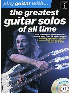 Play Guitar With... The Greatest Guitar Solos Of All Time Books and CDs | Guitar Tab