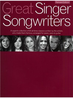 Great Singer Songwriters - Female Edition Books | Piano, Vocal & Guitar (with Chord Boxes)