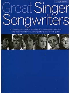 Great Singer Songwriters - Male Edition Books | Piano, Vocal & Guitar (with Chord Boxes)