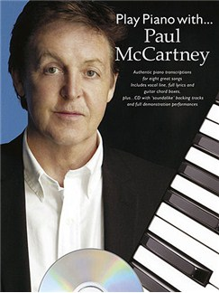 Play Piano With... Paul McCartney CD et Livre | Piano, Chant et Guitare (Boîtes d'Accord)
