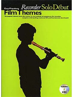 Solo Debut: Film Themes - Easy Playalong Recorder Books | Soprano (Descant) Recorder
