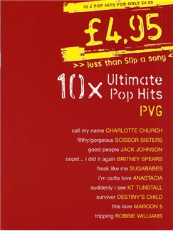 £4.95 - 10 Ultimate Pop Hits Books | Piano, Vocal & Guitar (with Chord Boxes)
