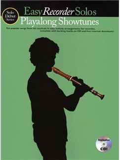 Solo Debut: Playalong Showtunes - Easy Recorder Solos Books and CDs | Recorder