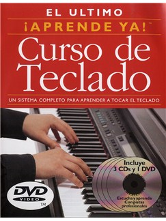 Aprende Ya! Curso de Teclado CD, DVDs / Videos y Libro | Piano