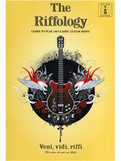 The Riffology - Learn To Play 140 Classic Guitar Riffs Livre | Tablature Guitare