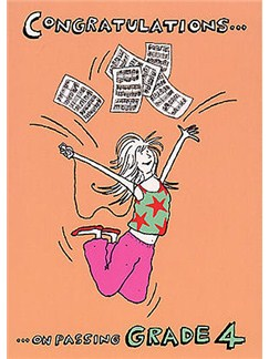 Music Gallery: Congratulations Card - Grade 4 (Girl)  |