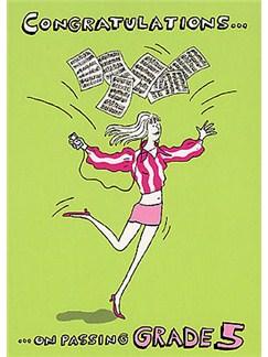 Music Gallery: Congratulations Card - Grade 5 (Girl)  |