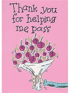 Music Gallery: Teacher Card - 'Thank You Helping Me Pass'  |