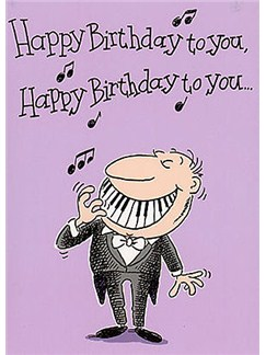 Music Gallery: Adult Male Birthday Card  |