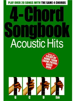 4-Chord Songbook: Acoustic Hits Books | Guitar (with Chord Boxes and Chord Symbols)