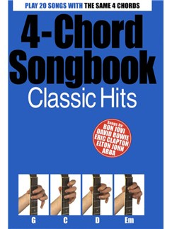 4-Chord Songbook: Classic Hits Books | Guitar (with Chord Boxes and Symbols)