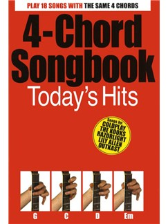 4-Chord Songbook: Today's Hits Books | Guitar