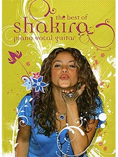 The Best Of Shakira (PVG) Books | Piano, Vocal & Guitar (with Chord Boxes)
