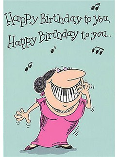 Music Gallery: Adult Female Birthday Card  |