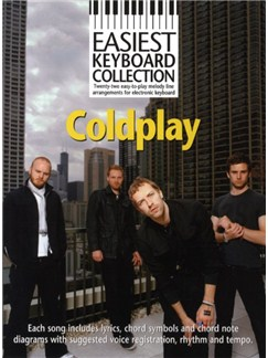 Easiest Keyboard Collection: Coldplay Books | Melody Line, Lyrics & Chords, Keyboard