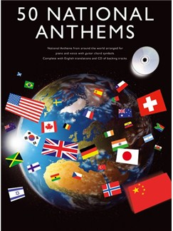 50 National Anthems Books and CDs | Piano, Vocal & Guitar