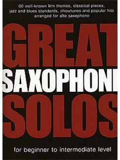 Great Saxophone Solos Livre | Saxophone Alto