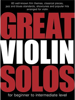 Great Violin Solos Livre | Violon