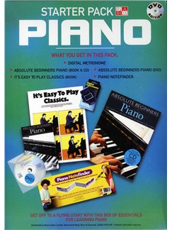In A Box: Starter Pack Piano DVD Edition Books, CDs and DVDs / Videos | Piano