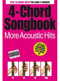 4-Chord Songbook: More Acoustic Hits Books | Lyrics & Chords