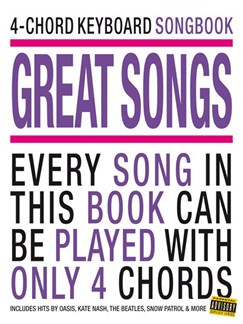 4-Chord Keyboard Songbook - Great Songs Books | Keyboard