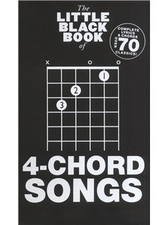 The Little Black Songbook: 4-Chord Songs Books | Lyrics & Chords, Guitar