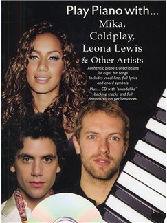 Play Piano With Mika, Coldplay, Leona Lewis And Other Artists (Book And CD) Books and CDs | Piano, Voice