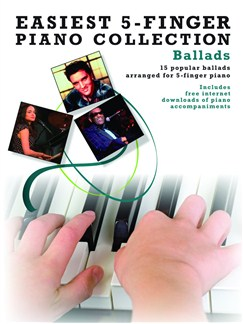 Easiest 5-Finger Piano Collection: Ballads Books and Digital Audio | Piano