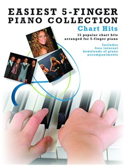 Easiest 5-Finger Piano Collection: Chart Hits Books and Digital Audio | Piano