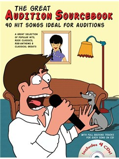 The Great Audition Sourcebook - 40 Hit Songs Ideal For Auditions (Male Singers) Books and CDs | Voice, Piano Accompaniment