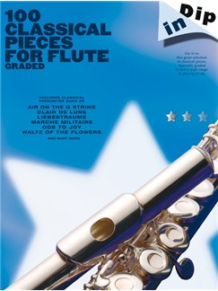 Dip In: 100 Classical Pieces For Flute (Graded) Livre | Flûte Traversière