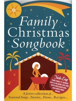 Family Christmas Colour Songbook + Yule Log DVD Books and DVDs / Videos | Voice and Piano