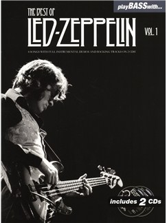 Play Bass With... The Best Of Led Zeppelin - Volume 1 Books and CDs | Bass Guitar, Bass Guitar Tab
