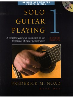 Frederick Noad: Solo Guitar Playing Volume 1 - Fourth Edition (Book/CD) Books and CDs | Guitar