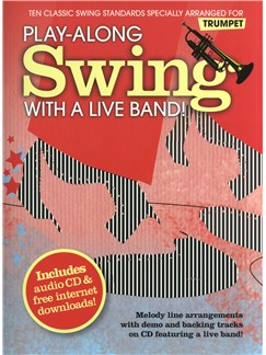 Play-Along Swing With A Live Band! - Trumpet CD et Livre | Trompette