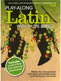 Play-Along Latin With A Live Band! - Flute Books and CDs | Flute
