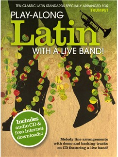 Play-Along Latin With A Live Band! - Trumpet Books and CDs | Trumpet
