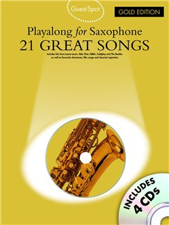 Guest Spot: Playalong For Alto Saxophone - Gold Edition Books and CDs | Alto Saxophone