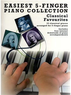 Easiest 5-Finger Piano Collection: Classical Favourites Books and Digital Audio | Piano