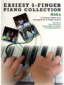 Easiest Five Finger Piano Collection: Abba Books and Digital Audio | Piano