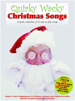 Quirky Wacky Christmas Songs (With Yule Log DVD) Books and DVDs / Videos | Piano, Vocal & Guitar