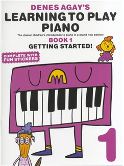 Denes Agay's Learning To Play Piano - Book 1 - Getting Started Books | Piano