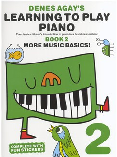 Denes Agay's Learning To Play Piano - Book 2 - More Music Basics! Books | Piano