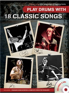 Play Drums With 18 Classic Songs CD et Livre | Batterie