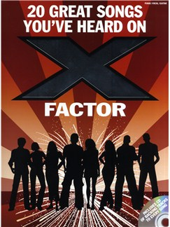 20 Great Songs You've Heard On X Factor CD et Livre | Piano, Chant et Guitare