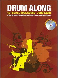 Drum Along - 10 Female Rock Songs Books and CDs | Drums