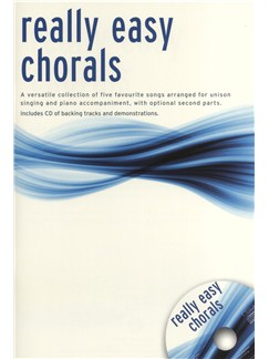 Really Easy Chorals - Book/CD Books and CDs | Unison Voice, 2-Part Choir, Piano Accompaniment
