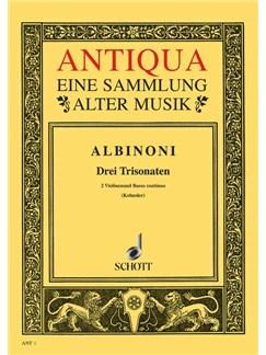 Tomaso Albinoni: 3 Triosonaten Op. 1 Nr. 10-12 Books | Violin, Continuo, Cello