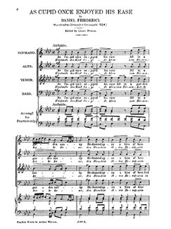 Friderici, D As Cupid Once Enjoyed His Ease Satb Buch | SATB (Gemischter Chor)